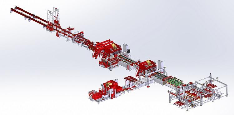 High capacity line for pallet production SMHC
