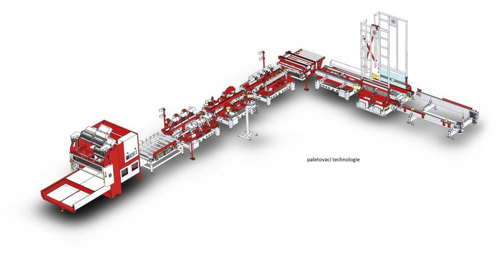 Palletizing line
